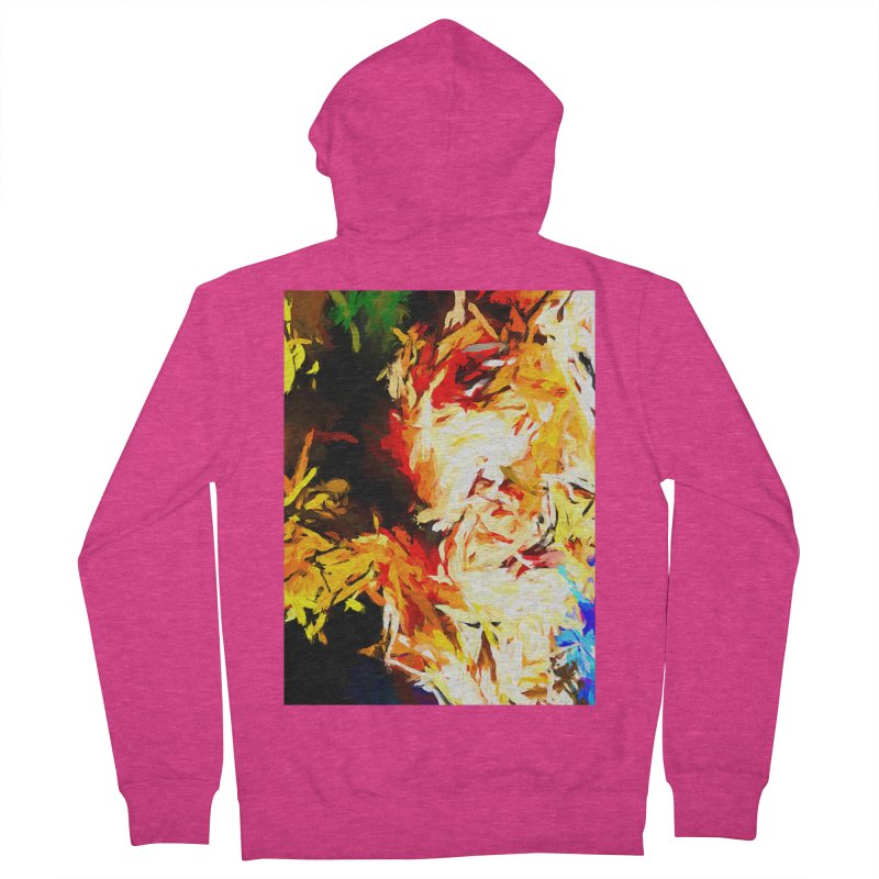 Fire Bull Scream Women's French Terry Zip-Up Hoody by jackievano's Artist Shop