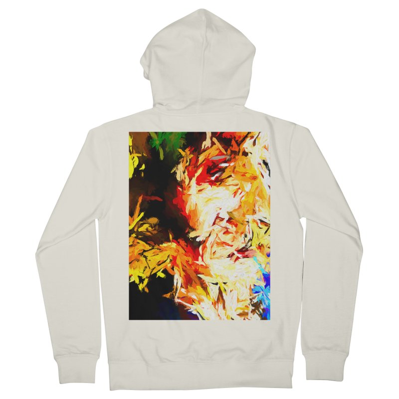 Fire Bull Scream Men's French Terry Zip-Up Hoody by jackievano's Artist Shop