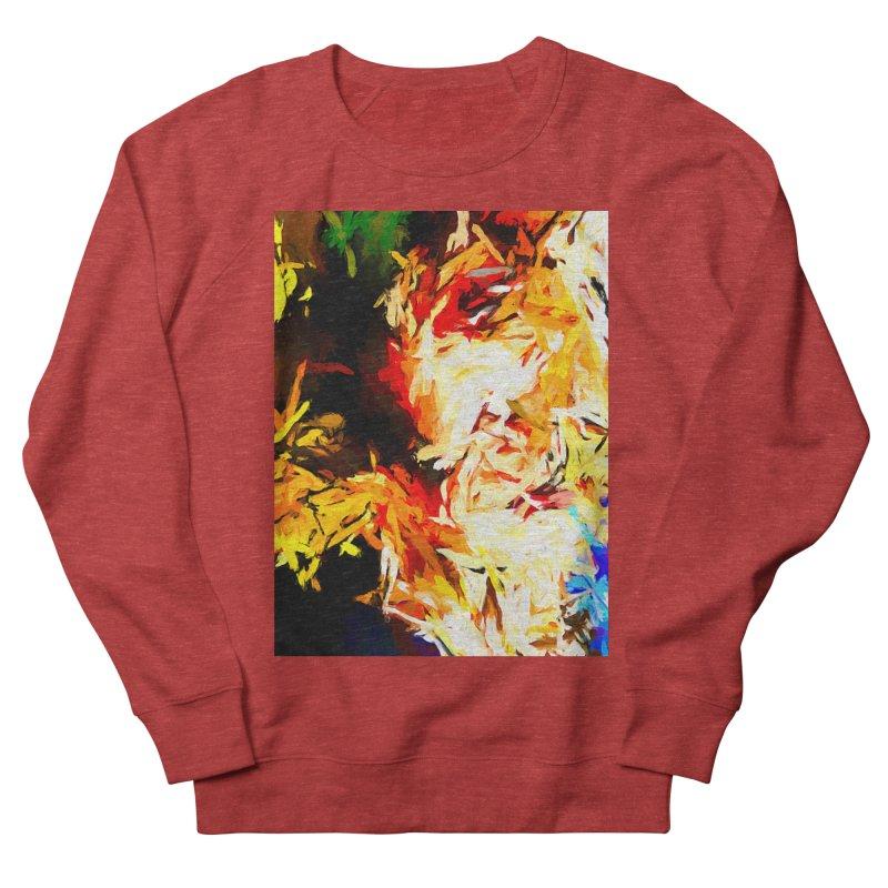 Fire Bull Scream Men's French Terry Sweatshirt by jackievano's Artist Shop