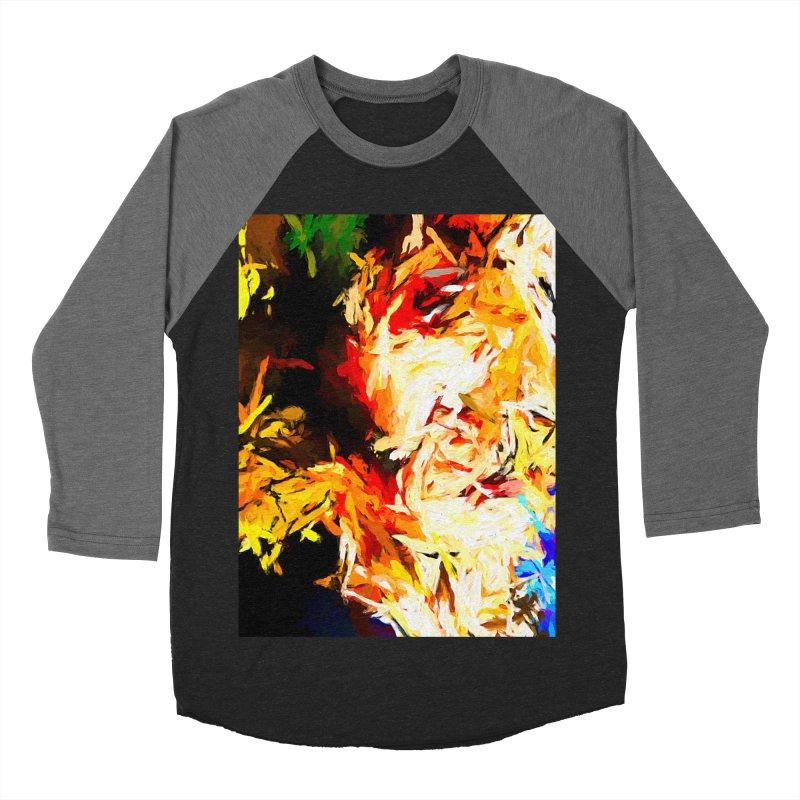 Fire Bull Scream Women's Baseball Triblend Longsleeve T-Shirt by jackievano's Artist Shop