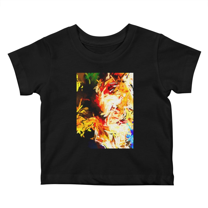 Fire Bull Scream Kids Baby T-Shirt by jackievano's Artist Shop