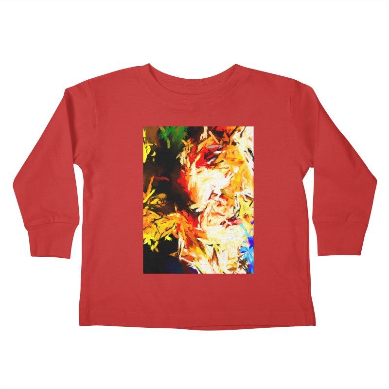 Fire Bull Scream Kids Toddler Longsleeve T-Shirt by jackievano's Artist Shop