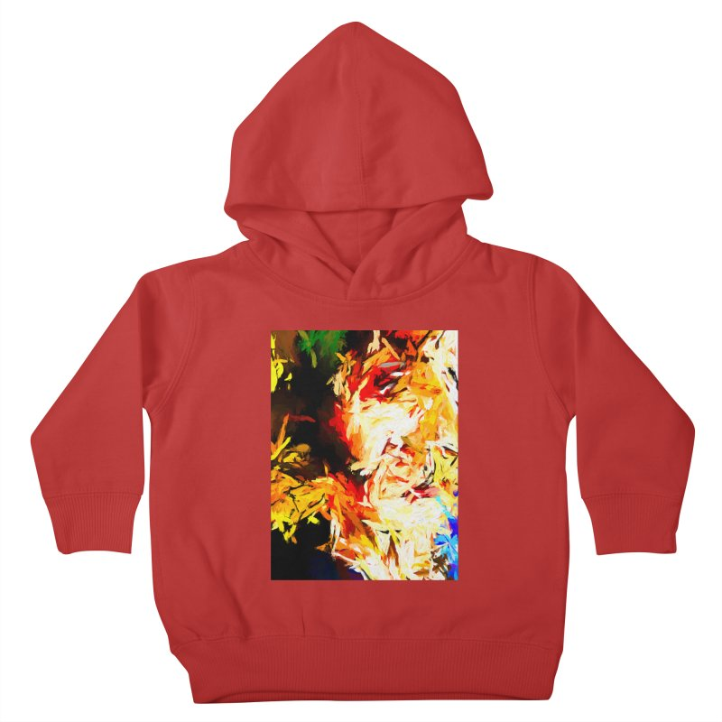 Fire Bull Scream Kids Toddler Pullover Hoody by jackievano's Artist Shop