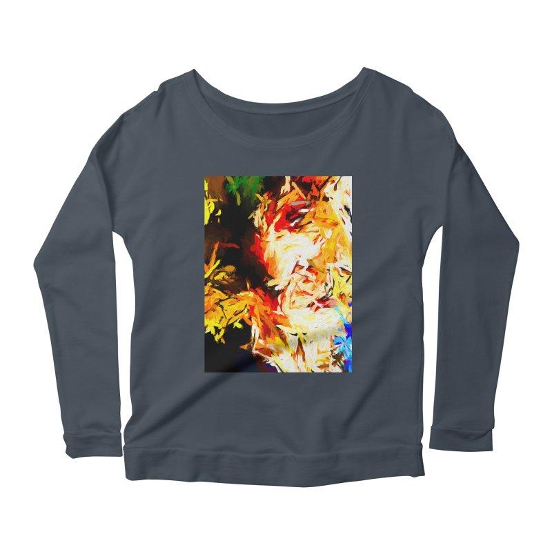 Fire Bull Scream Women's Scoop Neck Longsleeve T-Shirt by jackievano's Artist Shop