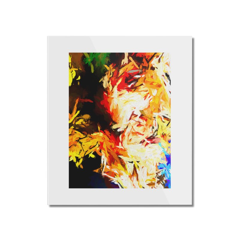 Fire Bull Scream Home Mounted Acrylic Print by jackievano's Artist Shop