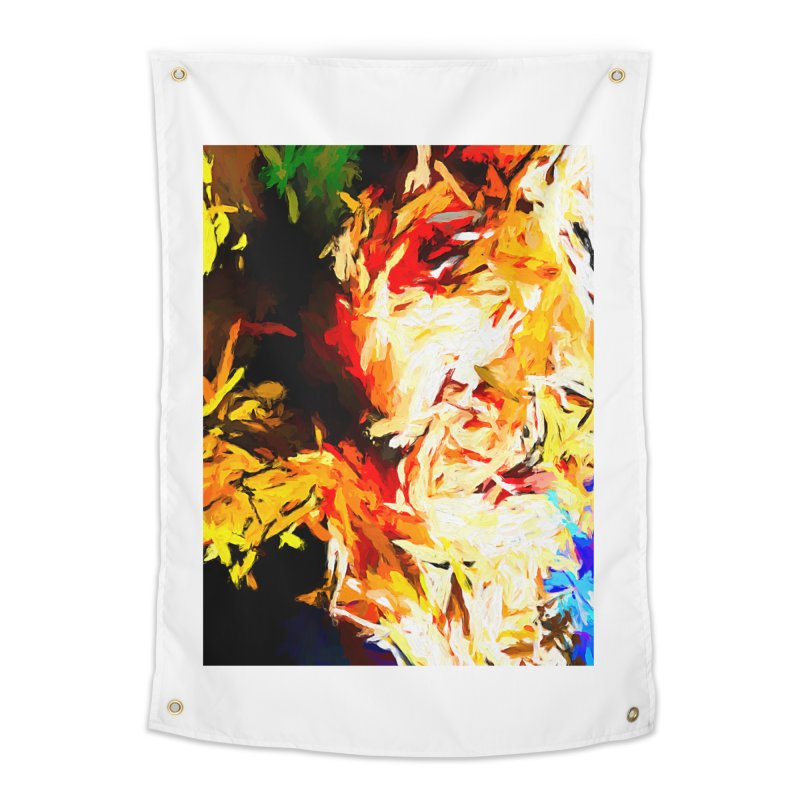 Fire Bull Scream Home Tapestry by jackievano's Artist Shop