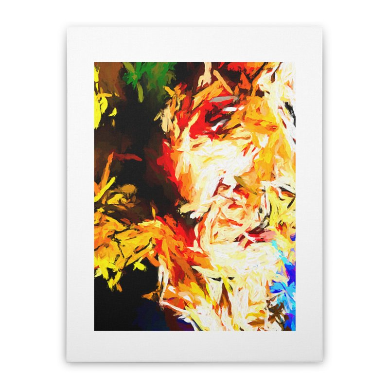 Fire Bull Scream Home Stretched Canvas by jackievano's Artist Shop
