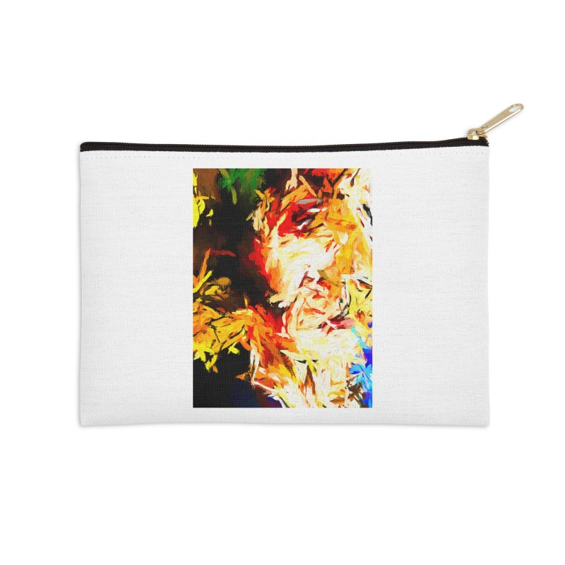 Fire Bull Scream Accessories Zip Pouch by jackievano's Artist Shop
