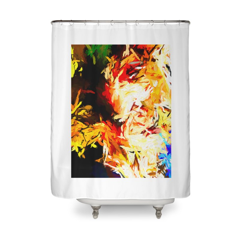 Fire Bull Scream Home Shower Curtain by jackievano's Artist Shop