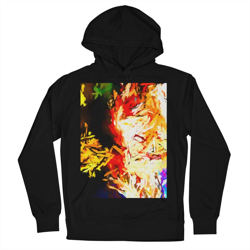 Fire Bull Mask Women's French Terry Pullover Hoody by jackievano's Artist Shop