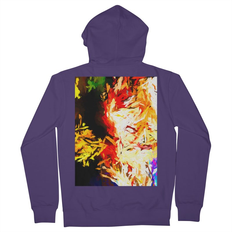 Fire Bull Mask Women's French Terry Zip-Up Hoody by jackievano's Artist Shop
