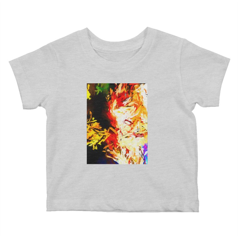 Fire Bull Mask Kids Baby T-Shirt by jackievano's Artist Shop