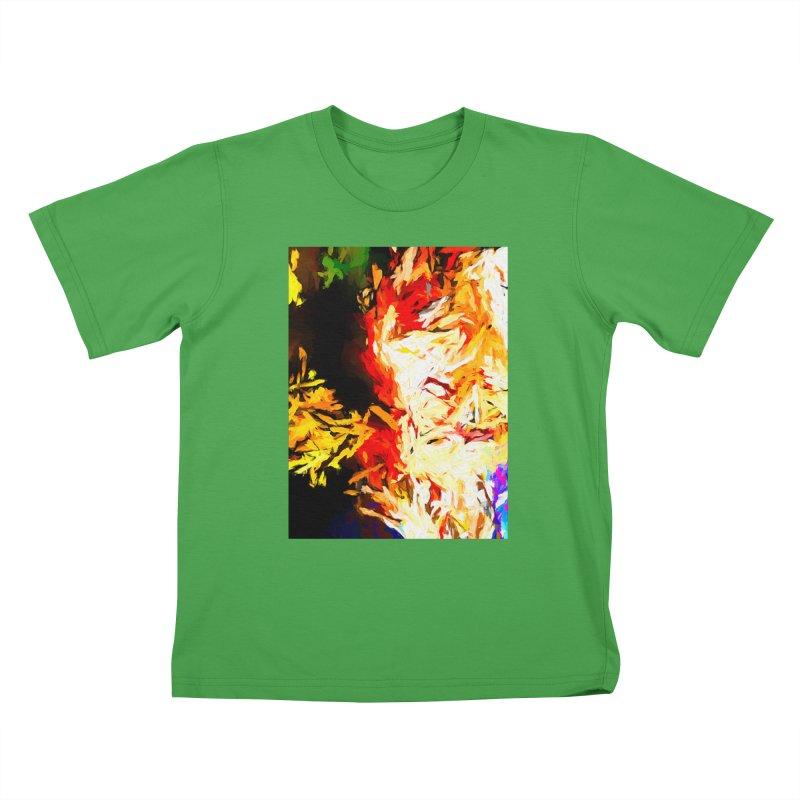 Fire Bull Mask Kids T-Shirt by jackievano's Artist Shop