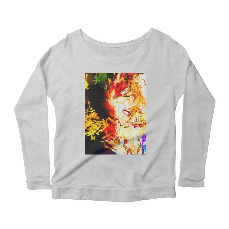 Fire Bull Mask Women's Scoop Neck Longsleeve T-Shirt by jackievano's Artist Shop
