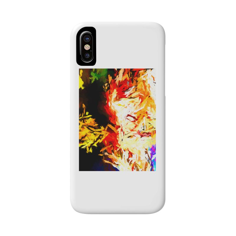 Fire Bull Mask Accessories Phone Case by jackievano's Artist Shop
