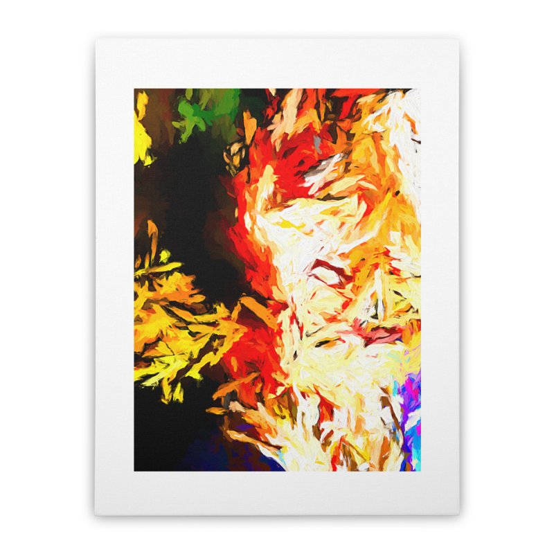Fire Bull Mask Home Stretched Canvas by jackievano's Artist Shop