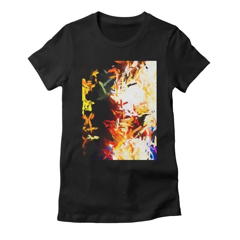 Phantom Mask Women's Fitted T-Shirt by jackievano's Artist Shop