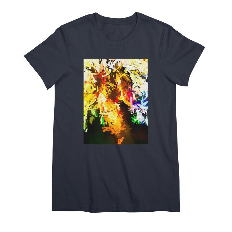 Orange Rainbow Pizza Man Women's Premium T-Shirt by jackievano's Artist Shop