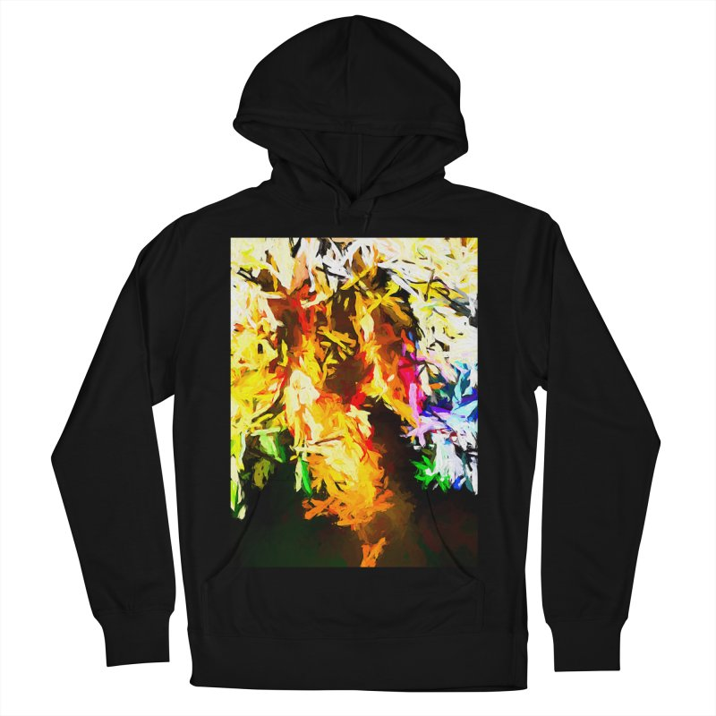 Orange Rainbow Pizza Man Women's French Terry Pullover Hoody by jackievano's Artist Shop