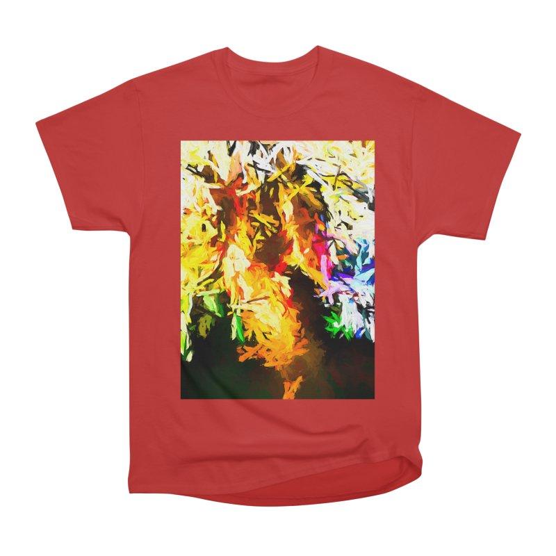 Orange Rainbow Pizza Man Men's Heavyweight T-Shirt by jackievano's Artist Shop