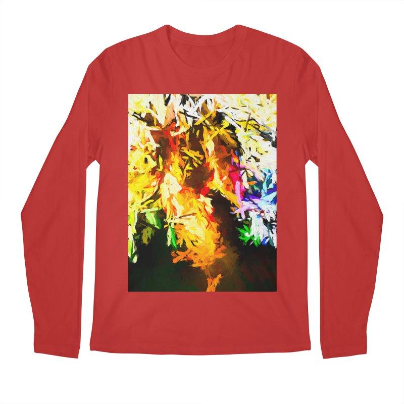 Orange Rainbow Pizza Man Men's Regular Longsleeve T-Shirt by jackievano's Artist Shop