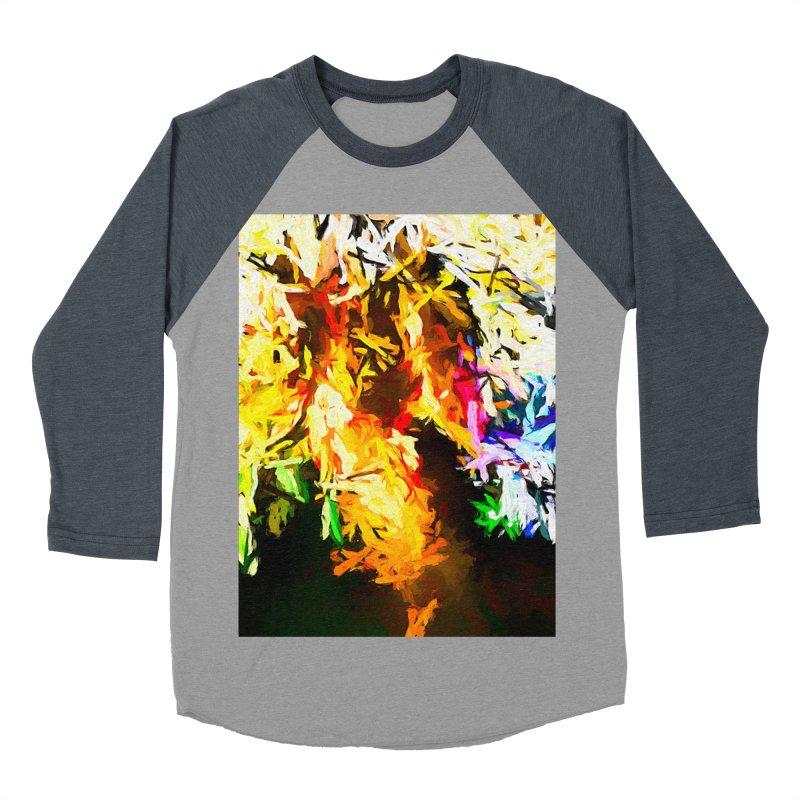 Orange Rainbow Pizza Man Women's Baseball Triblend Longsleeve T-Shirt by jackievano's Artist Shop