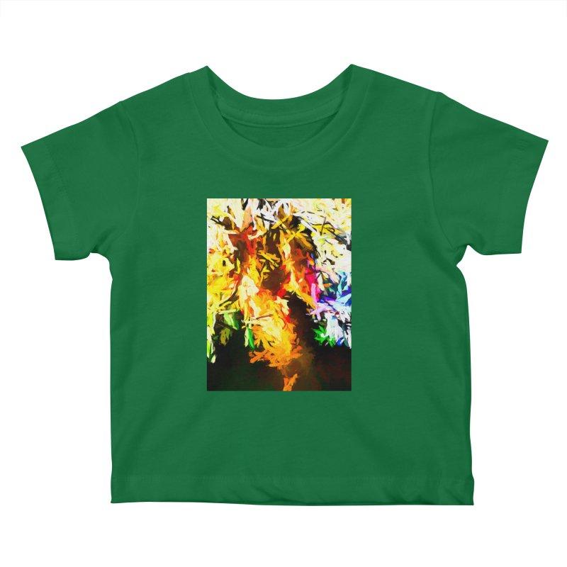 Orange Rainbow Pizza Man Kids Baby T-Shirt by jackievano's Artist Shop