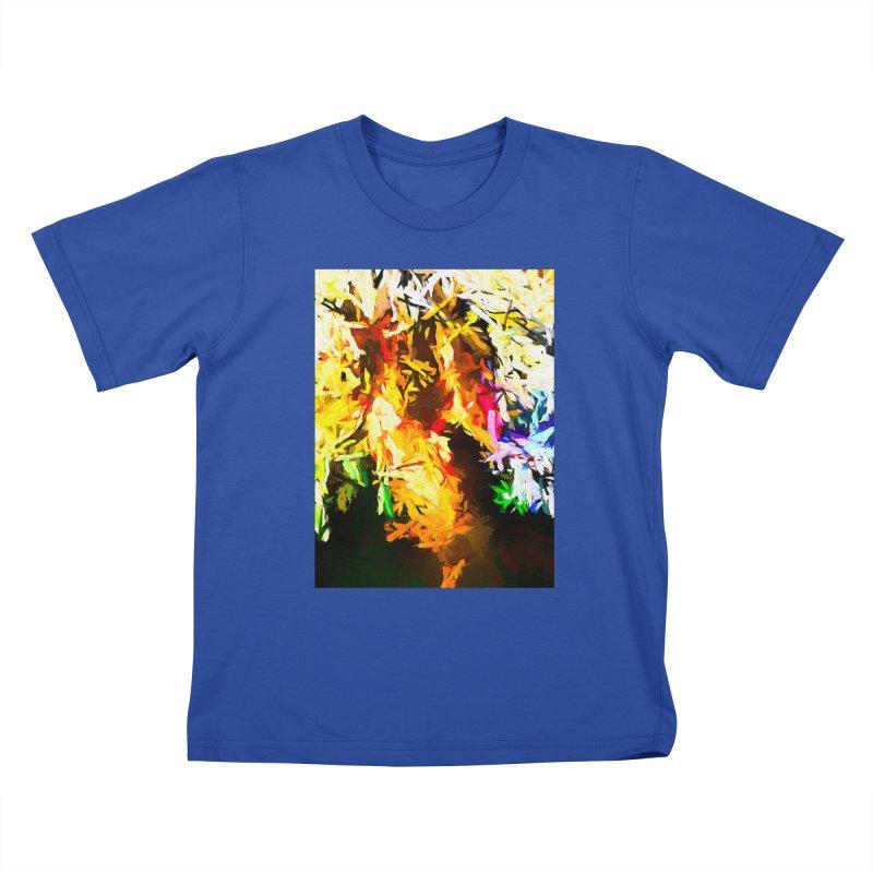Orange Rainbow Pizza Man Kids T-Shirt by jackievano's Artist Shop