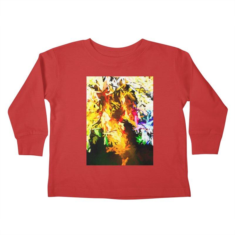 Orange Rainbow Pizza Man Kids Toddler Longsleeve T-Shirt by jackievano's Artist Shop