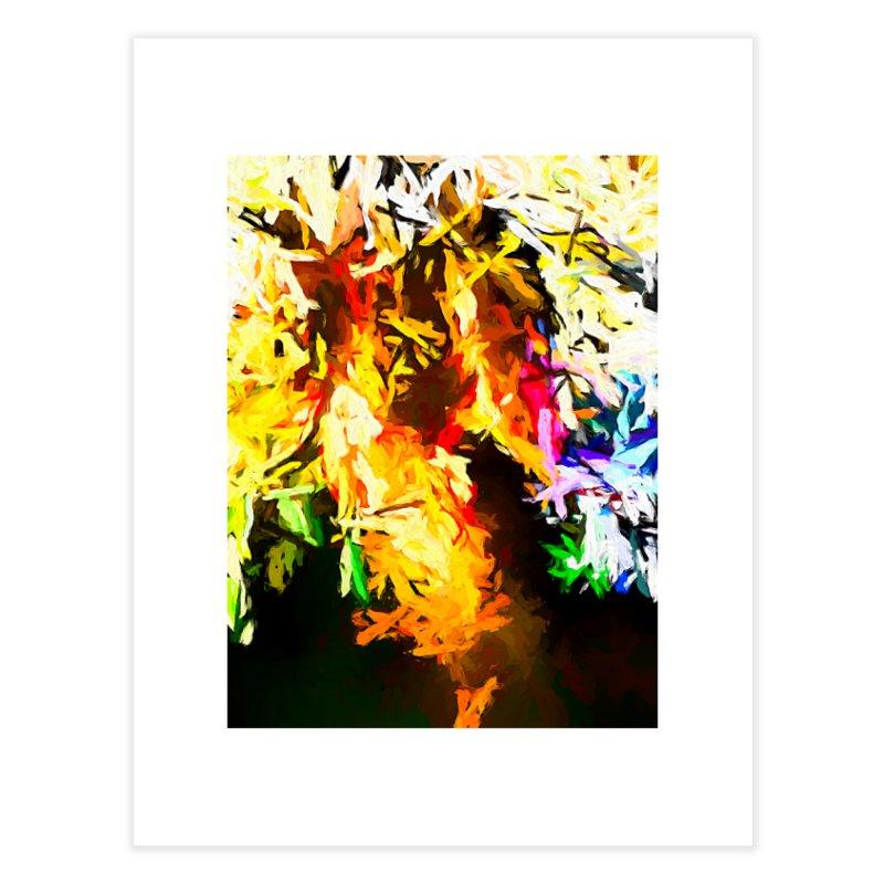 Orange Rainbow Pizza Man Home Fine Art Print by jackievano's Artist Shop