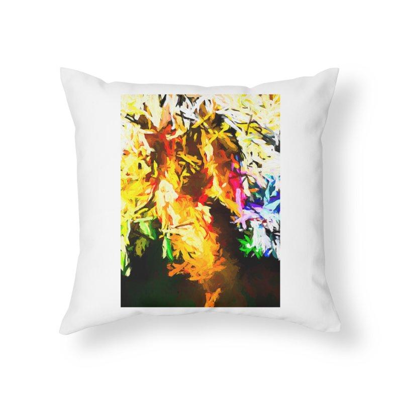 Orange Rainbow Pizza Man Home Throw Pillow by jackievano's Artist Shop
