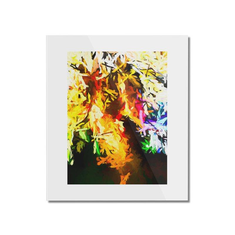 Orange Rainbow Pizza Man Home Mounted Acrylic Print by jackievano's Artist Shop