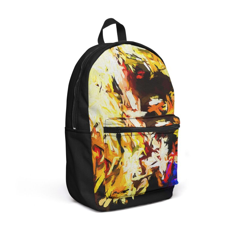 Talking Man Accessories Backpack Bag by jackievano's Artist Shop