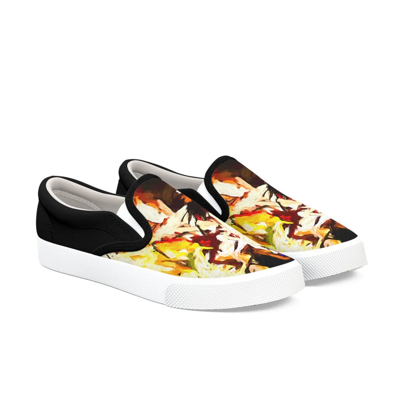 Talking Man Women's Slip-On Shoes by jackievano's Artist Shop