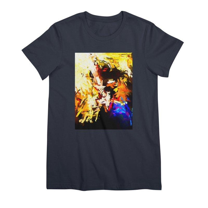 Talking Man Women's Premium T-Shirt by jackievano's Artist Shop