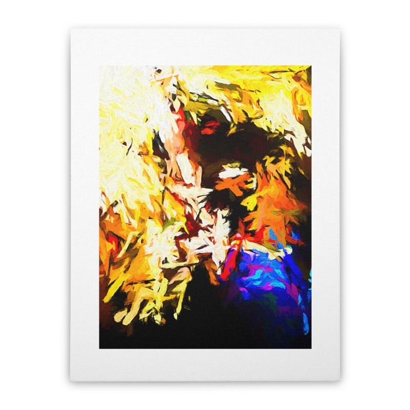 Talking Man Home Stretched Canvas by jackievano's Artist Shop