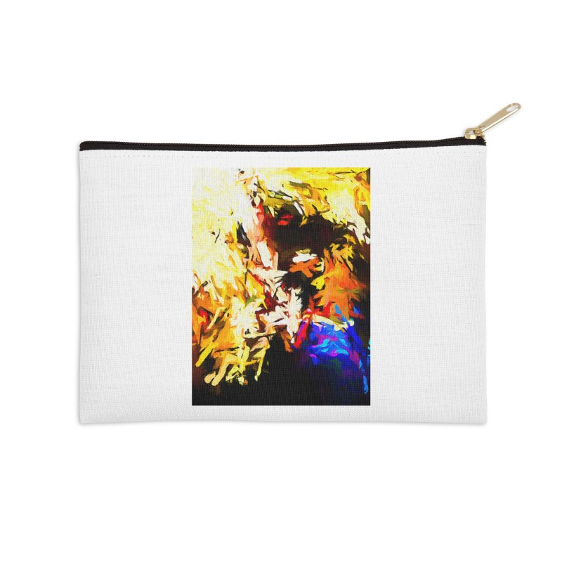 Talking Man Accessories Zip Pouch by jackievano's Artist Shop