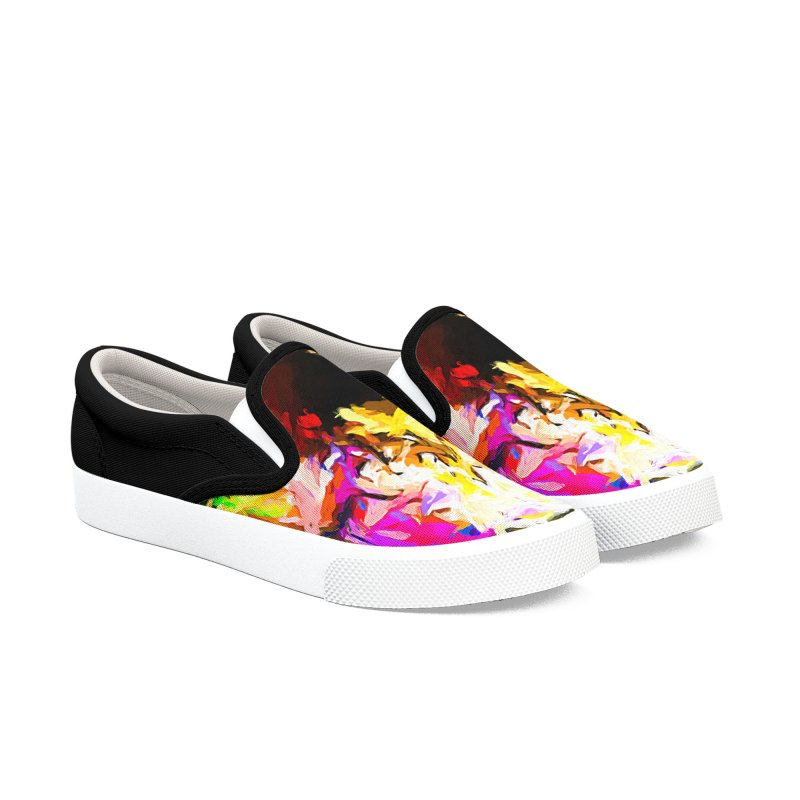 Pink Totem Men's Slip-On Shoes by jackievano's Artist Shop