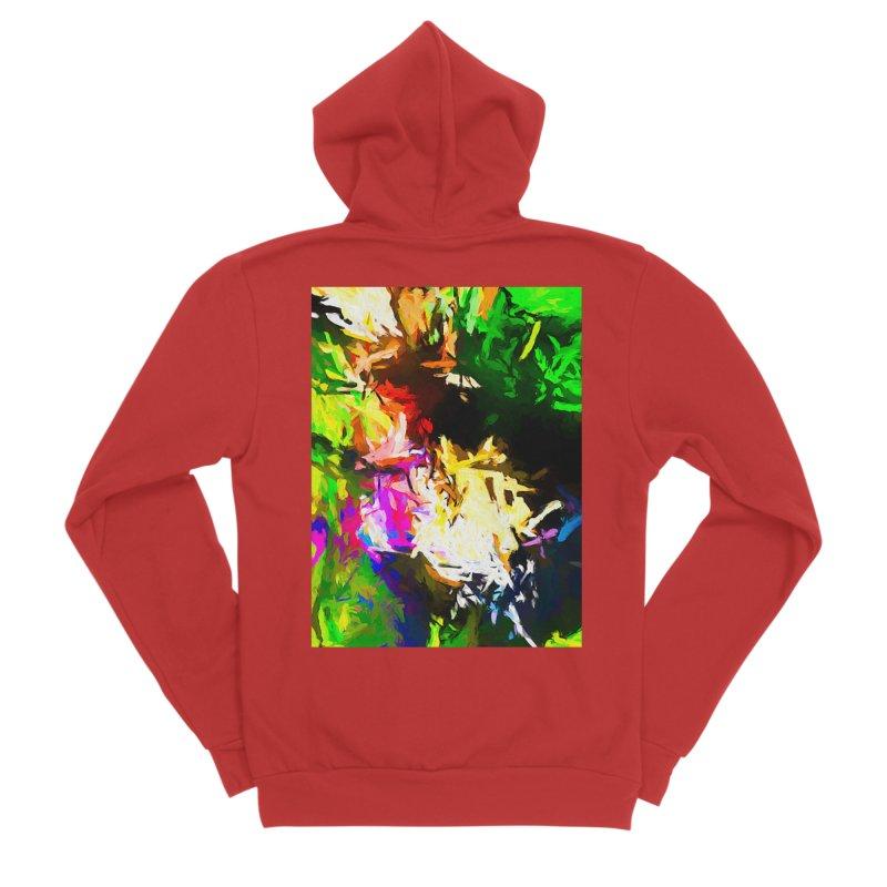 Pink Totem Men's Sponge Fleece Zip-Up Hoody by jackievano's Artist Shop