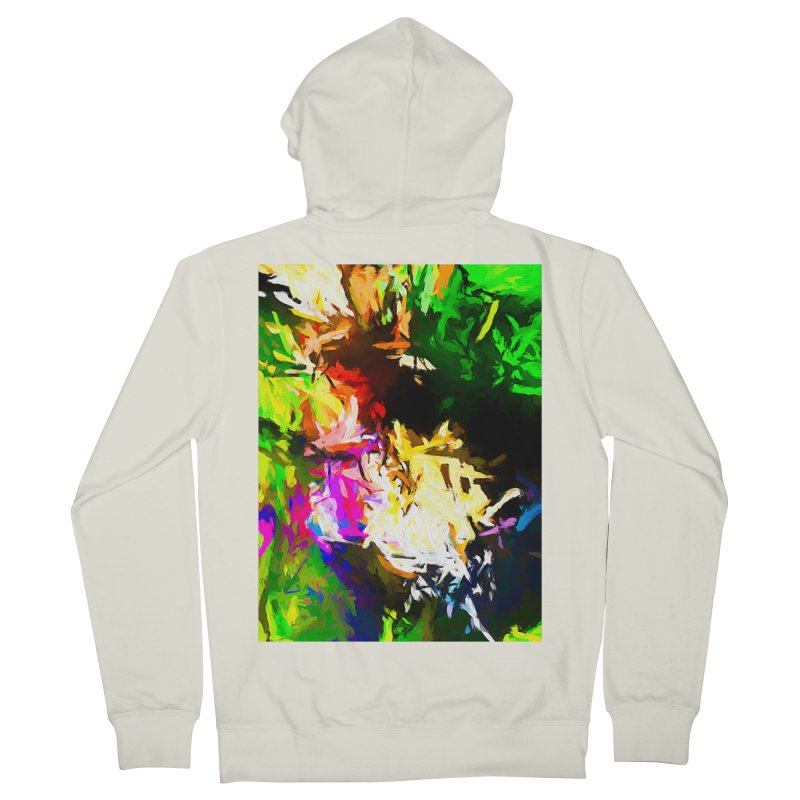 Pink Totem Women's French Terry Zip-Up Hoody by jackievano's Artist Shop