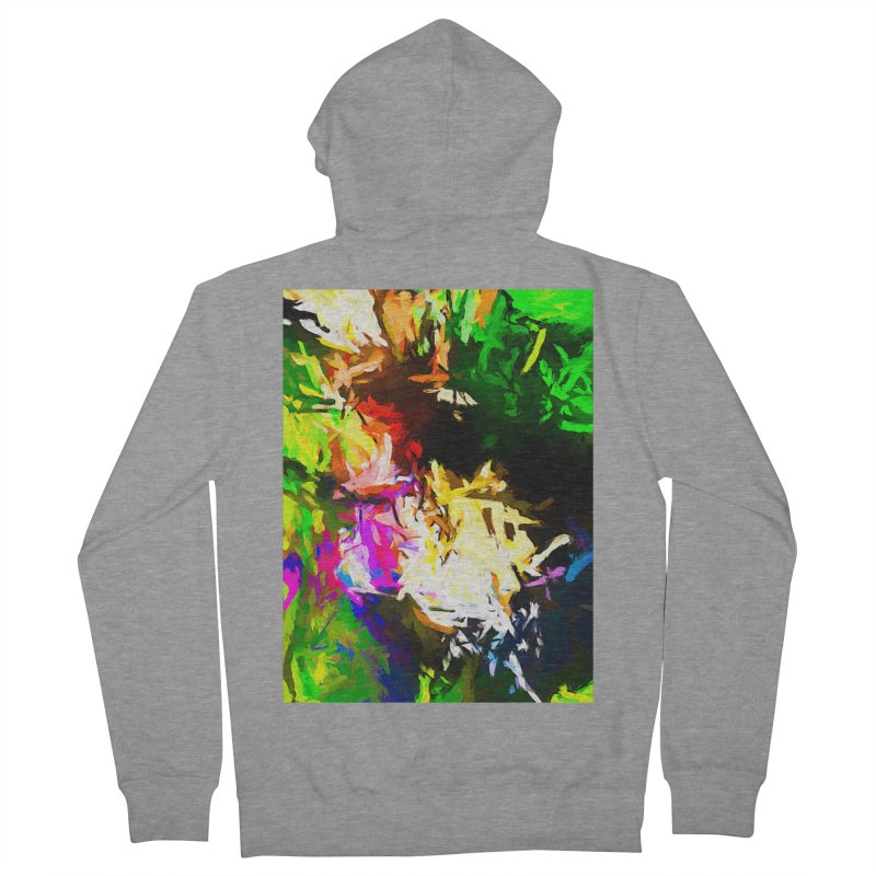 Pink Totem Men's French Terry Zip-Up Hoody by jackievano's Artist Shop