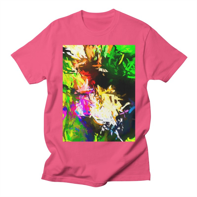 Pink Totem Men's Regular T-Shirt by jackievano's Artist Shop