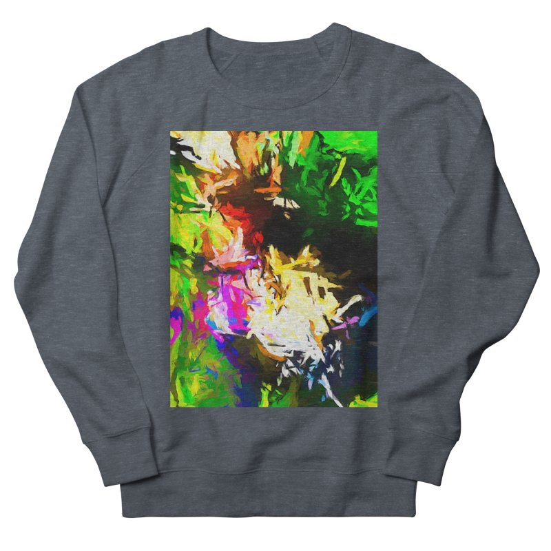 Pink Totem Men's French Terry Sweatshirt by jackievano's Artist Shop
