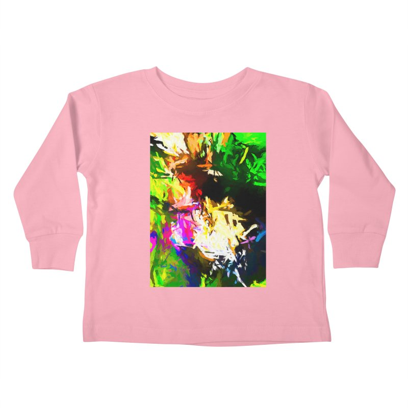 Pink Totem Kids Toddler Longsleeve T-Shirt by jackievano's Artist Shop