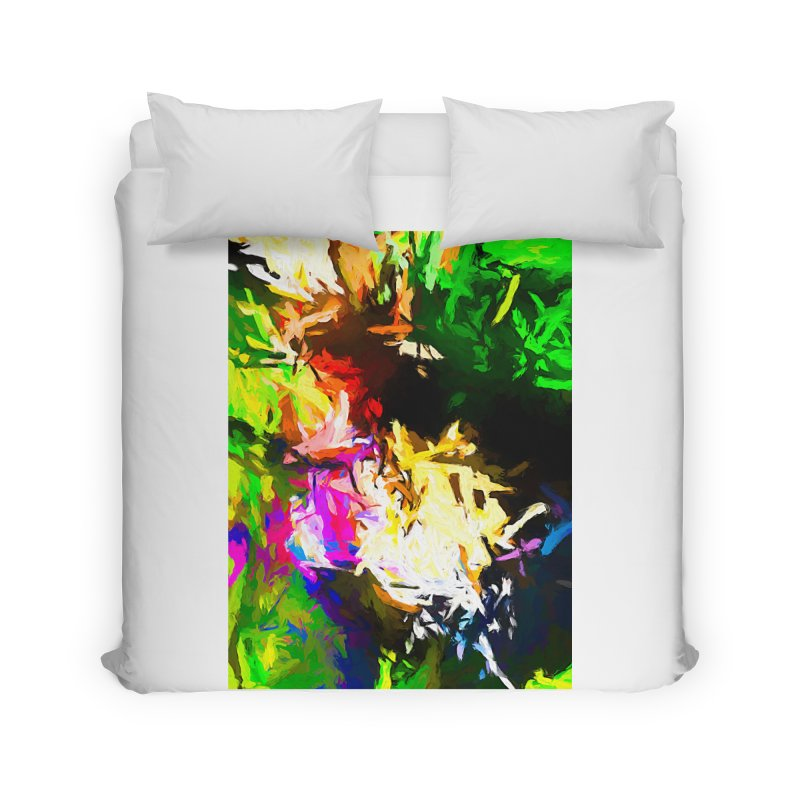 Pink Totem Home Duvet by jackievano's Artist Shop