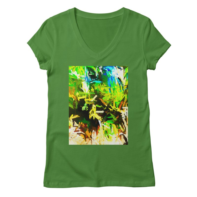Rain and Tears Women's Regular V-Neck by jackievano's Artist Shop