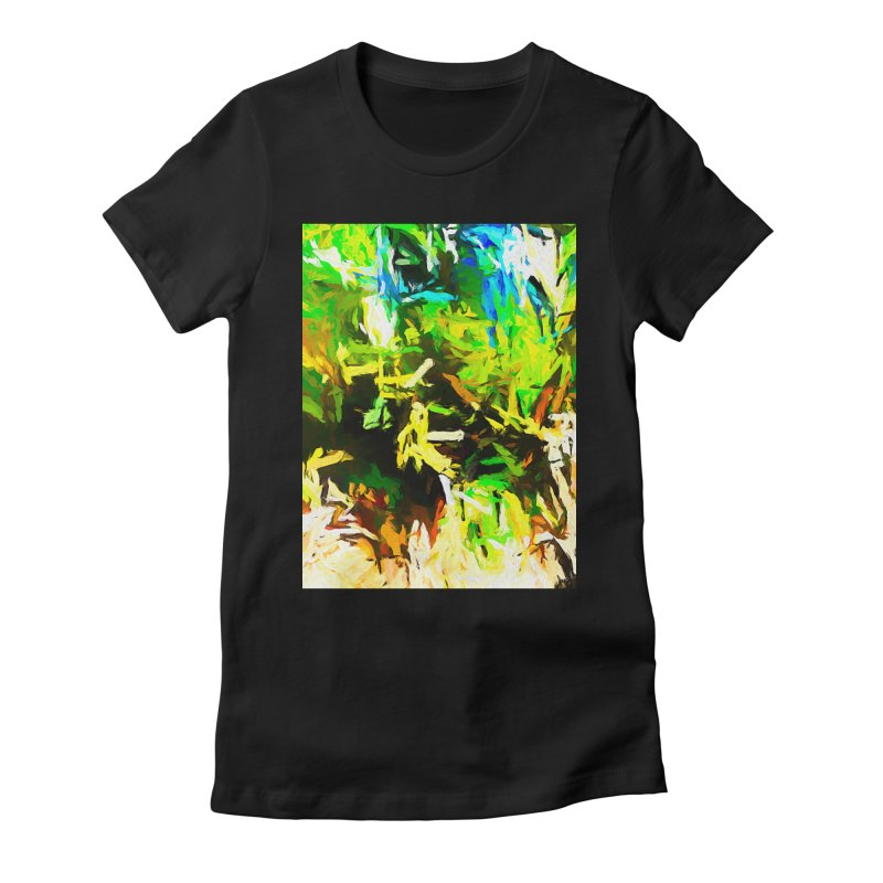 Rain and Tears Women's Fitted T-Shirt by jackievano's Artist Shop