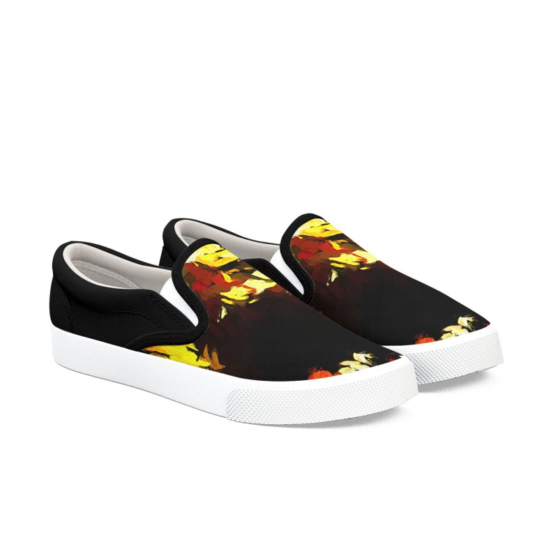 Weeping Woman by the Water Men's Slip-On Shoes by jackievano's Artist Shop