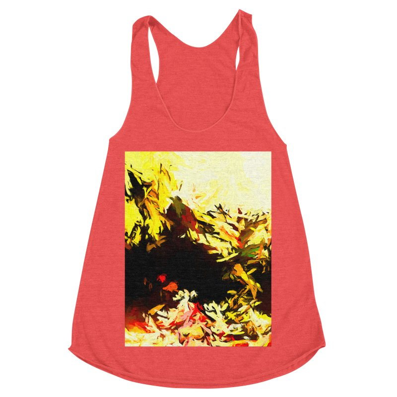 Weeping Woman by the Water Women's Racerback Triblend Tank by jackievano's Artist Shop