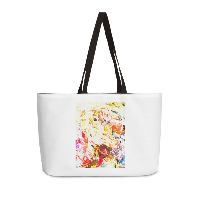 Gut Groan and the White Bull with Horns JVO2019 Accessories Weekender Bag Bag by jackievano's Artist Shop